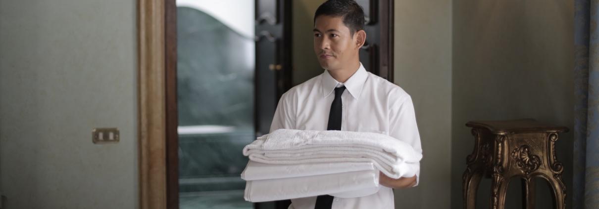 Nicely Dressed Hotel Worker/Butler